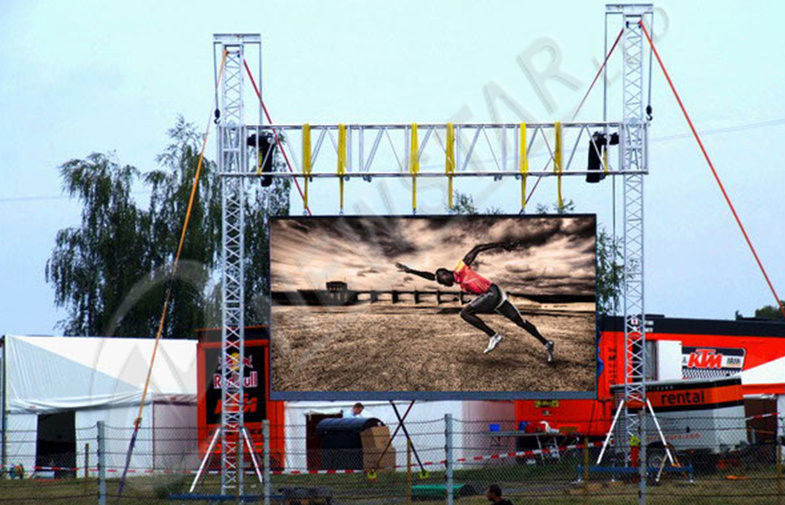 High Pixel Pitch rental module Outdoor Full Color LED Display screen for public square