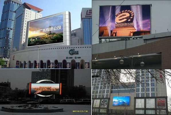 HD Advertisement Outdoor Full Color LED Display with Rolling Message 960 x 768mm Cabinet