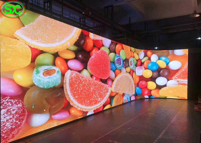 P4 Curved Video Wall Indoor Full Color LED Display Rental Full Color LED Screen