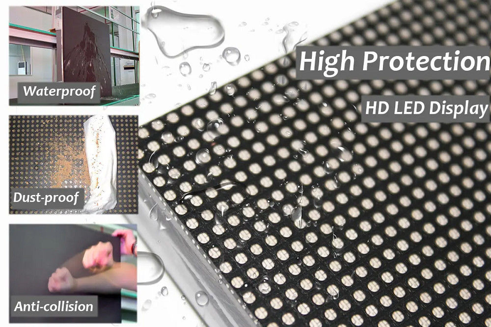 Small Pixel Pitch Water Proof 1200cd/sqm Full Color Led Display Board